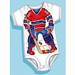 Hockey Goalie Red Onesie 12 Months