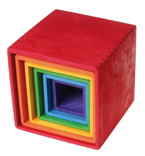 Large Rainbow Stacking Boxes