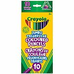 10 count Jumbo Triangular Crayons