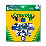 10 Ultra-Clean Washable Markers