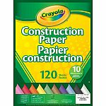 Crayola 120 Count Construction Paper