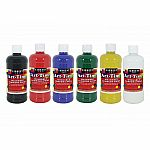 6 Pack 16 oz. Art-Time Washable Paint