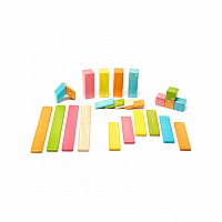 24 Piece Set Tints - Tegu Magnetic Wooden Blocks