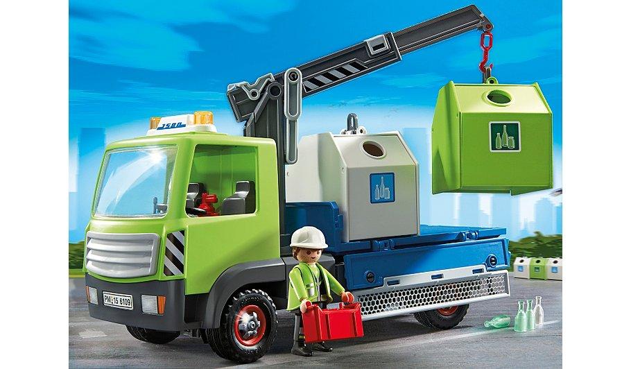 Toys 4 Trucks Green Bay : Glass sorting truck retired product toy sense