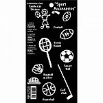 Sports Accessories Family Stickers