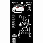 Baby in Stroller Family Stickers
