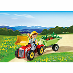 Boy with Children's Tractor - RETIRED PRODUCT