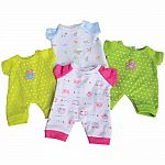 "10"" Baby Doll Outfits - 4-Piece Set"