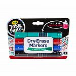 Take Note Dry Erase Markers - Chisel Tip (4-Pack)
