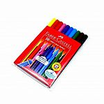 10ct Grip Washable Marker Pens w/ Wallet