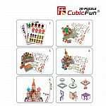 St. Basil's Cathedral 3D - CubicFun 173 Pieces