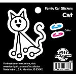 Cat with Colour Collar Family Stickers