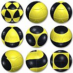 Marusenko Puzzle Sphere: Black & Yellow Level 1