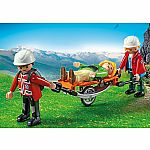 Mountain Rescuers with Stretcher - RETIRED PRODUCT