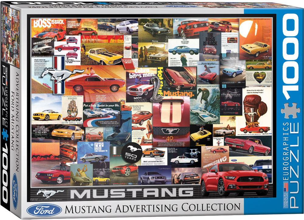 Vintage Ads Car Series Ford Mustang Eurographics Toy Sense