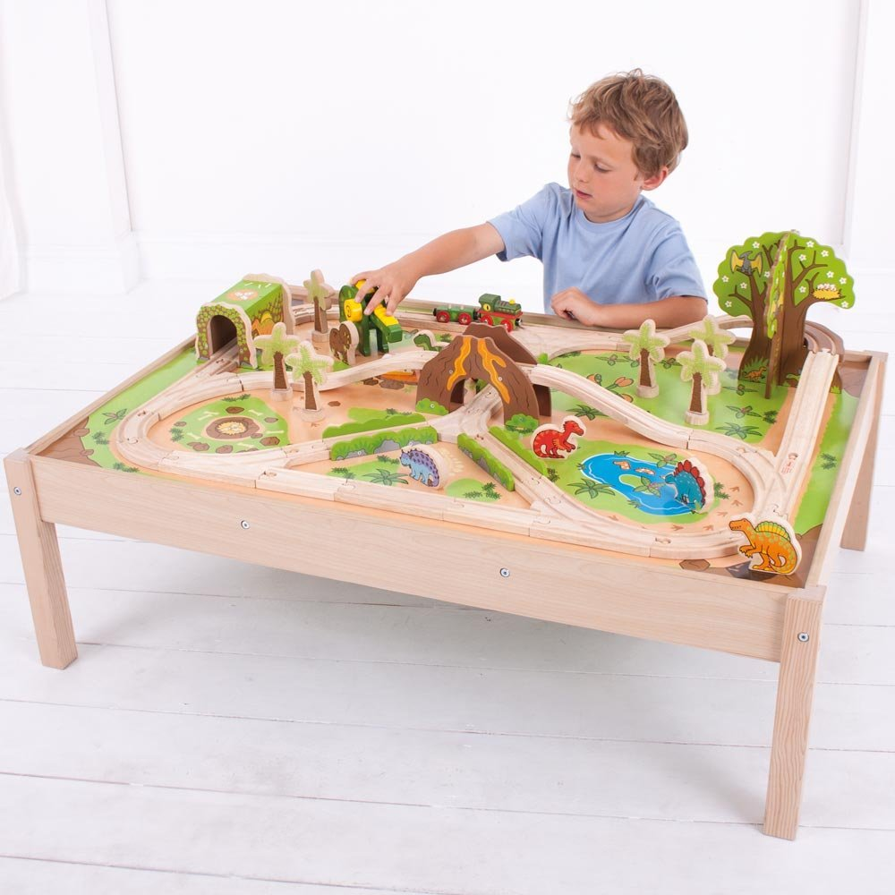 The Original Toy Company Solid Hardwood Dinosaur Train Playset