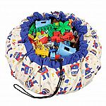 Play & Go Children's Drawstring Play Mat and Toy Organizer Storage Bag - superhero print