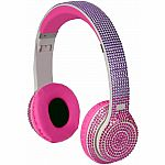 Bluetooth Bling Headphones - Pink/Purple