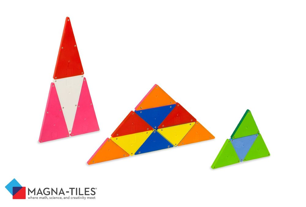 Magna Tiles Solid Colors 100 Piece Set Toy Sense