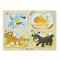 4-in-1 Pets - Wooden Puzzle 4 x 4 pieces