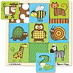 Animals Peek Through Puzzle