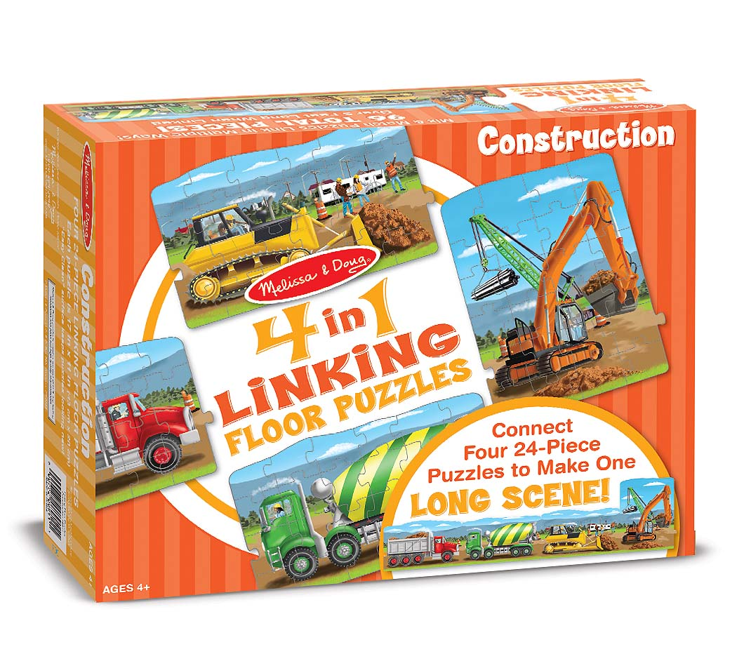 Construction Linking Floor Puzzle   Melissa U0026 Doug
