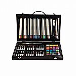 80 Piece Art Set in Wood Case