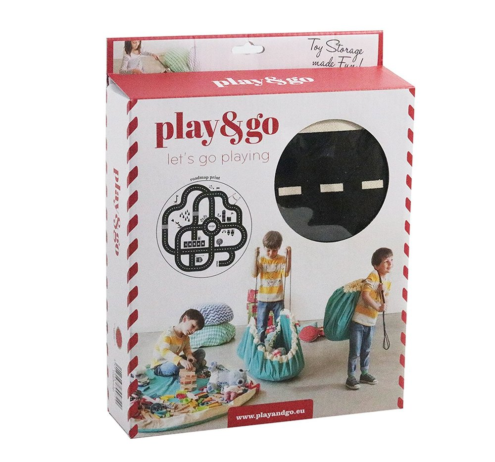 play go children s drawstring play mat and toy organizer storage bag roadmap toy sense. Black Bedroom Furniture Sets. Home Design Ideas