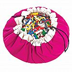 Play & Go Children's Drawstring Play Mat and Toy Organizer Storage Bag - Fuchsia