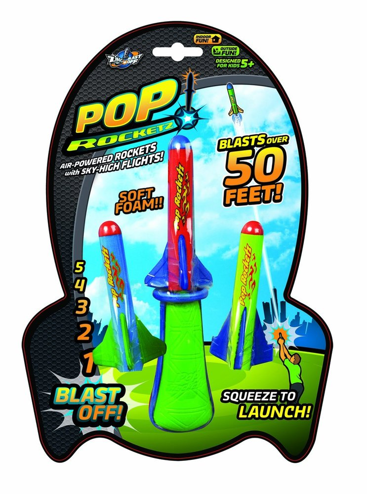 Blast Toys Pop : Zing blast off pop rocketz toy sense