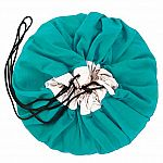 Play & Go Children's Drawstring Play Mat and Toy Organizer Storage Bag - Turquoise
