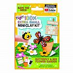 100% Extra Small Mini Clay Kit Butterfly & Bee Flower Garden .