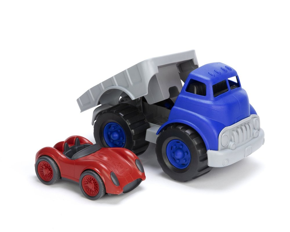 Toys 4 Trucks Green Bay : Flatbed red race car toy sense