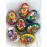 Easter Egg Wooden - Floral Handpainted