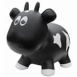 Farm Hoppers Inflatable Bouncing Black Cow with Pump