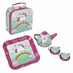 Unicorn Tea Set in Mini Case - Mint