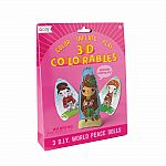 3D Colorables - World Peace Dolls