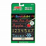 ABC & 123 Writing Pad - Scratch Art On The Go