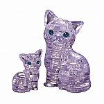 Cat & Kitten - 3D Crystal Puzzle