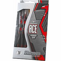 26g Ace Rubber Grip Steel Tip Darts