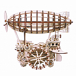 Wooden Mechanical Gears Airship