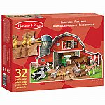 Busy Barn Shaped Floor Puzzle - Melissa & Doug