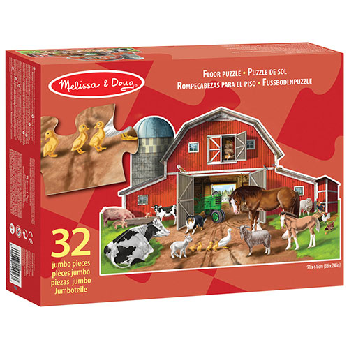 Busy Barn Shaped Floor Puzzle Melissa Doug Toy Sense