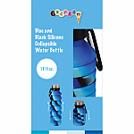 Blue and Black Collapsible Water Bottle