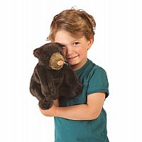 Small Black Bear Hand Puppet