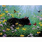 Black Bear an Butterflies  - SunsOut