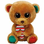 Bella - Brown Bear with Candy Cane (Medium)