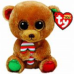 Bella - Brown Bear with Candy Cane