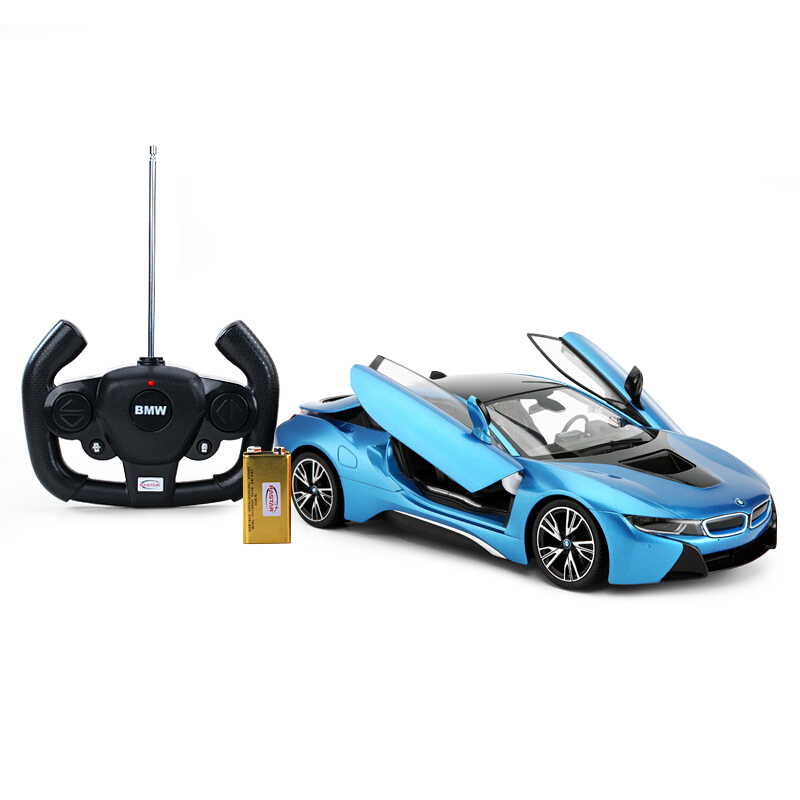 1 14 Battery Operated Remote Control Bmw I8 Blue Toy Sense