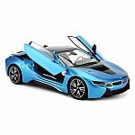 1:14 Battery Operated Remote Control BMW i8 - Blue